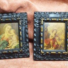 Varios objetos de Arte: PAREJA DE CUADROS ESTILO ISABELINO. Lote 233020230