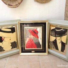 Varios objetos de Arte: LOTE DE CUADROS MOTIVOS MUJERES E. BELDA. Lote 85177784