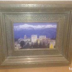Varios objetos de Arte: FOTOGRAFÍA ENMARCADA,MARCO DE LATÓN,TRABAJADO Y FIRMADO. Lote 85450764