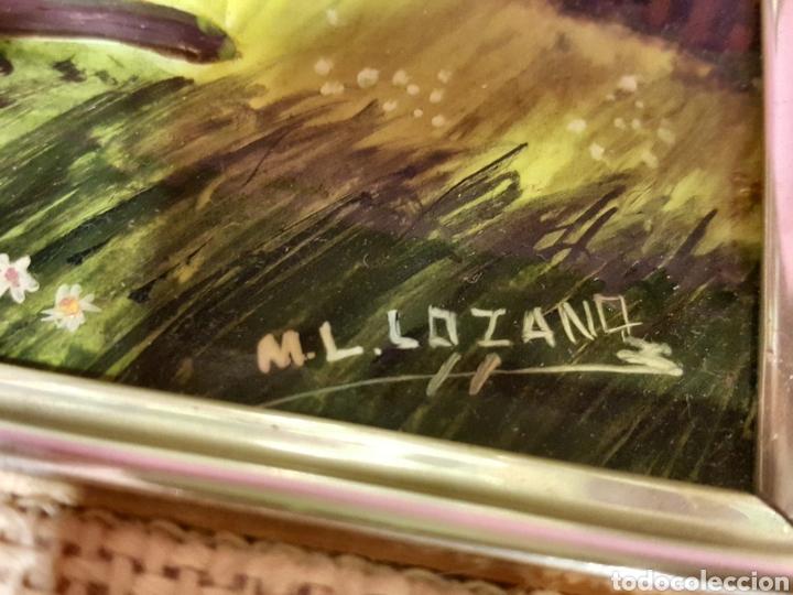 Varios objetos de Arte: Las Cuatro Estaciones. Cartones esmaltados con marco. Firmados: M. L. Lozano. - Foto 7 - 85583136
