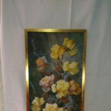 Art: PRECIOSO CUADRO VINTGE DE ROSAS .. Lote 86165700