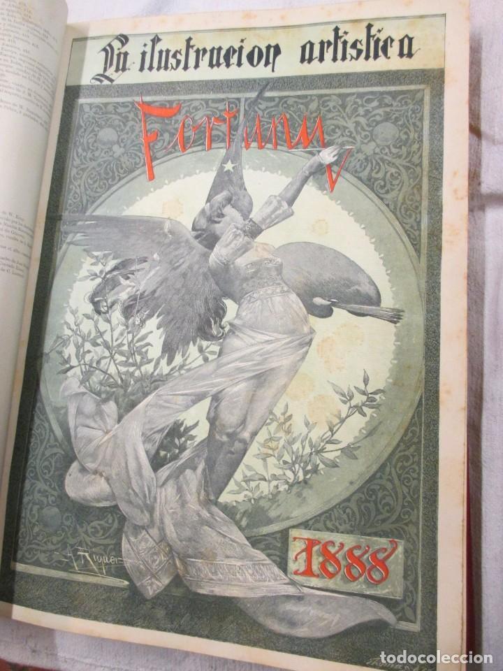 LA ILUSTRACION ARTISTICA - AÑO COMPLETO 1888 - LITERATURA ARTE CIENCIA, SEMANAL EXCELENTE 51 Nº +INF (Arte - Varios Objetos de Arte)