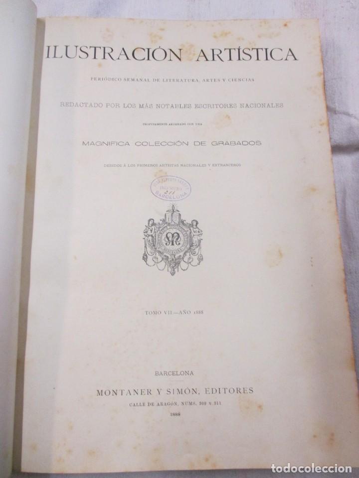 Varios objetos de Arte: LA ILUSTRACION ARTISTICA - AÑO COMPLETO 1888 - LITERATURA ARTE CIENCIA, SEMANAL EXCELENTE 51 Nº +INF - Foto 2 - 86299816
