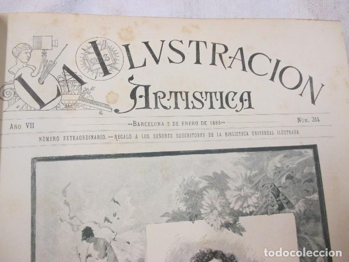 Varios objetos de Arte: LA ILUSTRACION ARTISTICA - AÑO COMPLETO 1888 - LITERATURA ARTE CIENCIA, SEMANAL EXCELENTE 51 Nº +INF - Foto 4 - 86299816