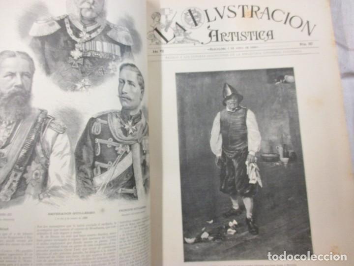 Varios objetos de Arte: LA ILUSTRACION ARTISTICA - AÑO COMPLETO 1888 - LITERATURA ARTE CIENCIA, SEMANAL EXCELENTE 51 Nº +INF - Foto 5 - 86299816