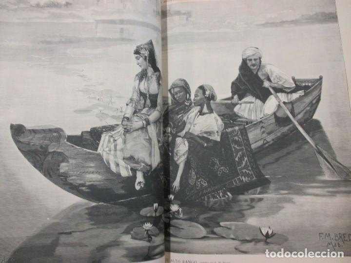 Varios objetos de Arte: LA ILUSTRACION ARTISTICA - AÑO COMPLETO 1888 - LITERATURA ARTE CIENCIA, SEMANAL EXCELENTE 51 Nº +INF - Foto 6 - 86299816