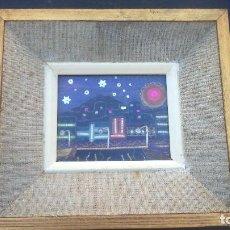 Varios objetos de Arte: CUADRO PAISAJE COSTURA A MANO. Lote 86333076