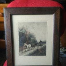 Varios objetos de Arte: CUADRO PAISAJE ANTIGUO. Lote 86389008