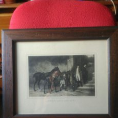 Varios objetos de Arte: CUADRO IMAGEN ANTIGUA CON CABALLOS. Lote 86389180