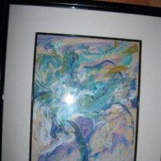 Varios objetos de Arte: INTERESANTE PINTURA ANTIGUA ABSTRACTA FIGURATIVA FIRMADA Y FECHADA OLEO EN CARTON. Lote 86464948