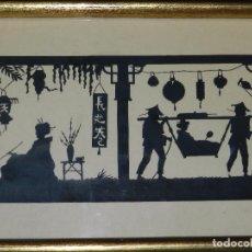 Varios objetos de Arte: (M) FILIGRANA PAPEL RECORTADO ALEMAN , FIRMADO HANS BRASEN , PAISAJE JAPONES , ESPECTACULAR !!! . Lote 86698404