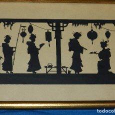Varios objetos de Arte: (M) FILIGRANA PAPEL RECORTADO ALEMAN , FIRMADO HANS BRASEN , PAISAJE JAPONES , ESPECTACULAR !!! . Lote 86698452