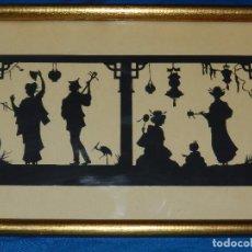 Varios objetos de Arte: (M) FILIGRANA PAPEL RECORTADO ALEMAN , FIRMADO HANS BRASEN , PAISAJE JAPONES , ESPECTACULAR !!! . Lote 86698528