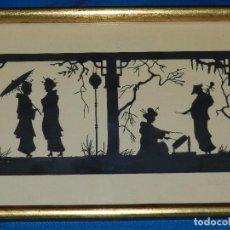 Varios objetos de Arte: (M) FILIGRANA PAPEL RECORTADO ALEMAN , FIRMADO HANS BRASEN , PAISAJE JAPONES , ESPECTACULAR !!! . Lote 86698568