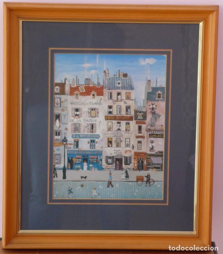 Varios objetos de Arte: PARÍS NAIF - CONJUNTO 3 CUADROS - Foto 2 - 87455924