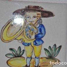 Varios objetos de Arte: AZULEJO PINTADO A MANO. Lote 87471616