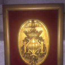 Varios objetos de Arte: VALENCIA. ESCUDO DE VALENCIA. BRONCE MACIZO. METOPA.. Lote 87507524