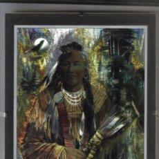 Varios objetos de Arte: GUERRERO INDIO EN LAMINA DUFEX PRINTS - 24 X 18 - PROTEGIDA CON CRISTAL. Lote 87544880