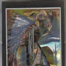 Varios objetos de Arte: GUERRERO INDIO EN LAMINA DUFEX PRINTS - 24 X 18 - PROTEGIDA CON CRISTAL. Lote 87545016