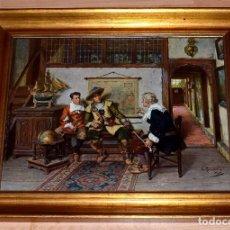 Varios objetos de Arte: BONITO CUADRO DE A. SCHRÖDER (ALBERT FRIEDRICH SCHRÖDER) , REPRODUCCIÓN. Lote 88902780