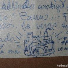 Varios objetos de Arte: RAFAEL REYES TORRENT ANTIGUO DIBUJO EN CARTA DE CASTILLO CASA FRANCIA 1954 AMIGO DE PICASSO. Lote 49481164