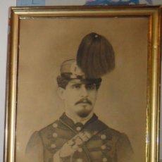 Varios objetos de Arte: MAGNÍFICO RETRATO DE MILITAR. SOCIEDAD ARTÍSTICA 1902. Lote 89852924