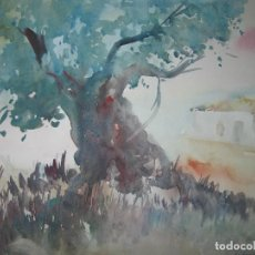Varios objetos de Arte: ANTIGUA ACUARELA ORIGINAL FIRMADA A LILLO HERNANDEZ ALICANTE. Lote 90190144