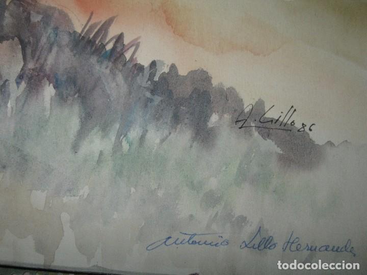 Varios objetos de Arte: ANTIGUA ACUARELA ORIGINAL FIRMADA A LILLO HERNANDEZ ALICANTE - Foto 2 - 90190144