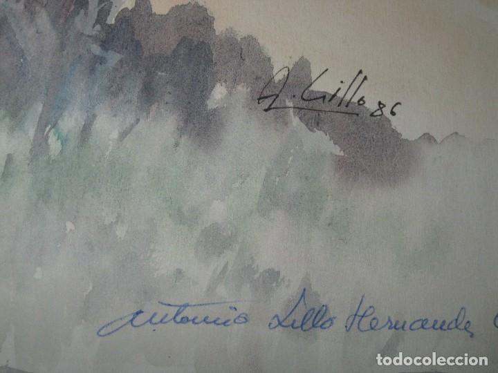 Varios objetos de Arte: ANTIGUA ACUARELA ORIGINAL FIRMADA A LILLO HERNANDEZ ALICANTE - Foto 3 - 90190144