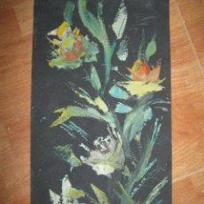 Varios objetos de Arte: PINTURA ANTIGUA IMPRESIONISTA FLORES MUY ANTIGUO. Lote 90203704