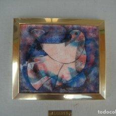 Varios objetos de Arte: PALOMA, CUADRO ESMALTE DE ALEGRÍA.. Lote 90438909