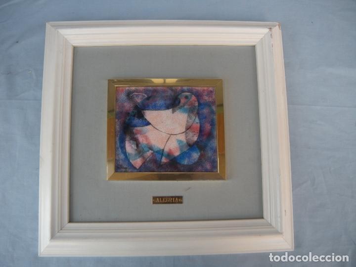 Varios objetos de Arte: PALOMA, CUADRO ESMALTE DE ALEGRÍA. - Foto 5 - 90438909