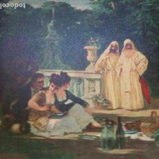 Varios objetos de Arte: (LA MERIENDA)OLEO DEL PINTOR REUSENSE JOSE LLOVERA BOFILL (1846-1896)BANCA VILELLA 1965. Lote 90794230