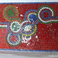 Varios objetos de Arte: FABULOSO CUADRO DE MOSAICOS ESTILO GAUDÍ REALIZADO A MANO SOBRE PLANCHA DE CERÁMICA-MUY DECORATIVO-. Lote 91303775