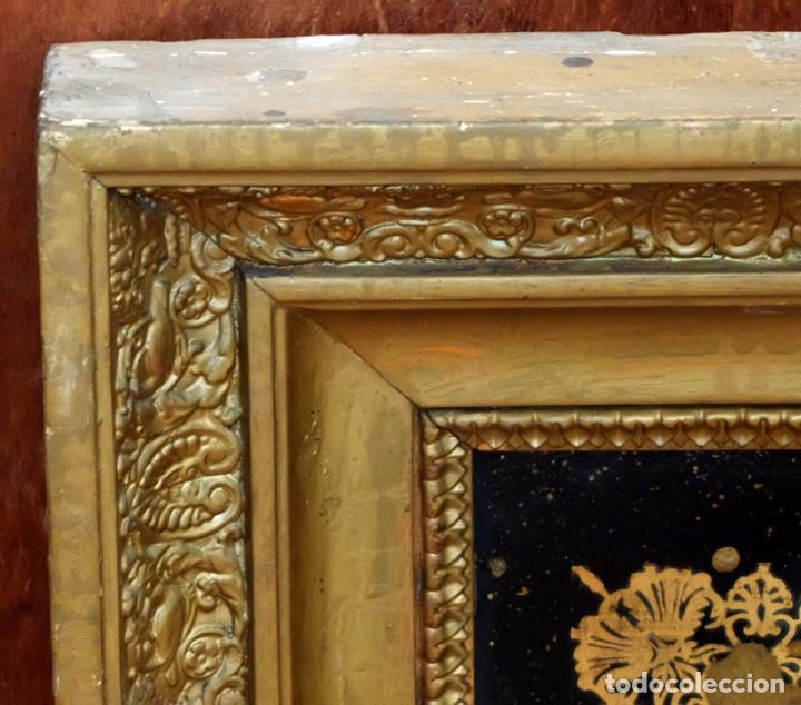 Varios objetos de Arte: COMPOSICIÓN BORDADA Y PINTADA SOBRE SEDA DEL SIGLO XIX. - Foto 16 - 91430335