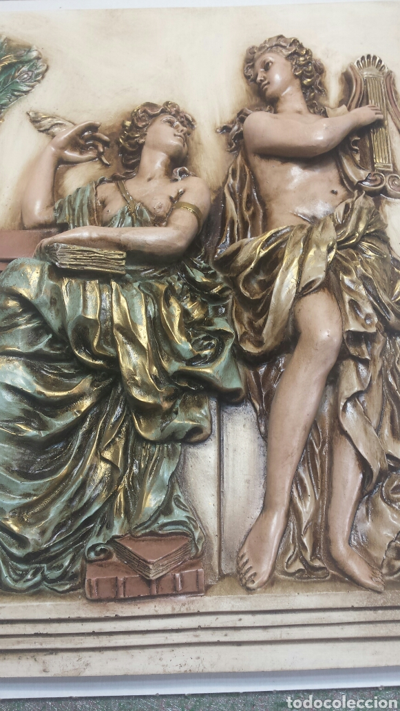 CUADRO RESINA EN RELIEVE DECORADO A MANO GRANDE (Arte - Varios Objetos de Arte)