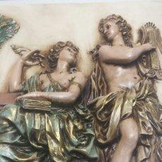 Varios objetos de Arte: CUADRO RESINA EN RELIEVE DECORADO A MANO GRANDE. Lote 91483724