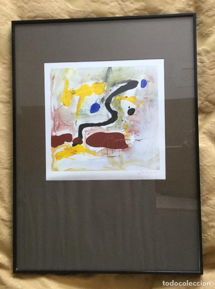 cuadro abstracto enmarcado años 70 - Comprar en todocoleccion - 91812610