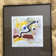 Varios objetos de Arte: CUADRO ABSTRACTO ENMARCADO AÑOS 70. Lote 91812610