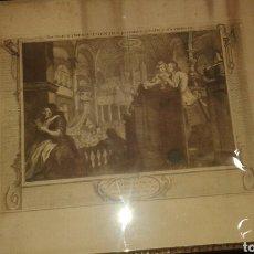 Varios objetos de Arte: TIPOGRAFÍA ENMARCADA. . SIGLO XIX. Lote 92243158