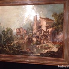 Varios objetos de Arte: REPRODUCCIÓN LE MOULIN DE QUIQUENGROGNE À CHARENTON. Lote 92271105
