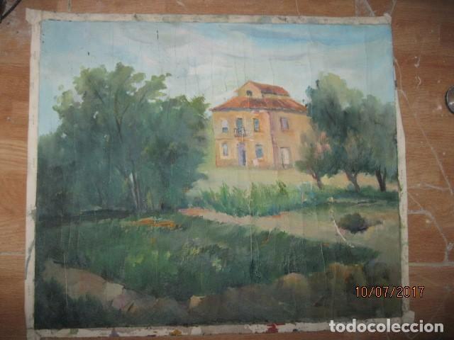 ANTIGUA PINTURA OLEO EN LIENZO CASERON (Arte - Varios Objetos de Arte)