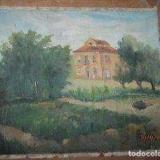 Varios objetos de Arte: ANTIGUA PINTURA IMPRESIONISTA OLEO EN LIENZO CASERON. Lote 92457610