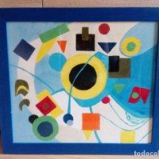 Varios objetos de Arte: CUADRO ABSTRACTO DE ARENA - MARCO Y VIDRIO INCLUIDO. Lote 92711185