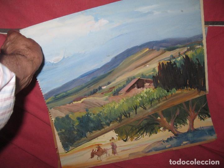 PINTURA ANTIGUA LOTE DE TRES OBRAS ORIGINALES (Arte - Varios Objetos de Arte)