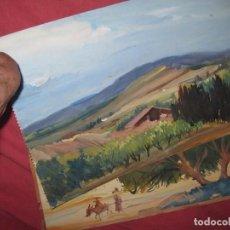 Varios objetos de Arte: PINTURA ANTIGUA LOTE DE TRES OBRAS ORIGINALES. Lote 92771865