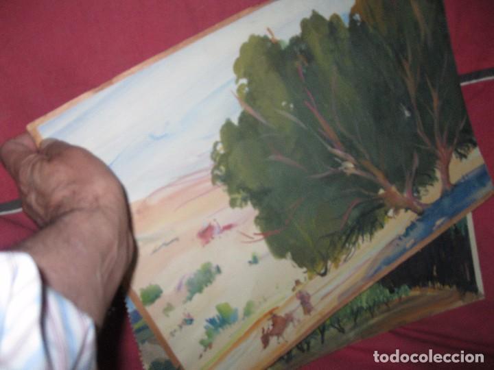 Varios objetos de Arte: PINTURA ANTIGUA LOTE DE TRES OBRAS ORIGINALES - Foto 2 - 92771865
