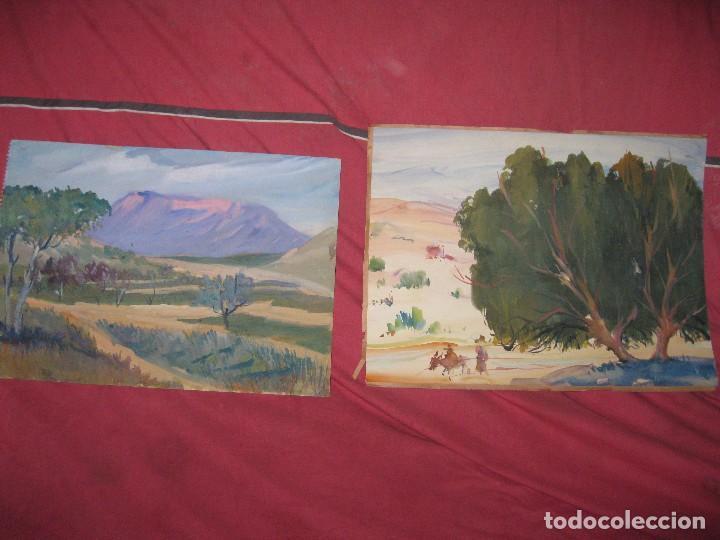 Varios objetos de Arte: PINTURA ANTIGUA LOTE DE TRES OBRAS ORIGINALES - Foto 4 - 92771865