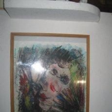Varios objetos de Arte: RARA PINTURA SURREALISTA OBRA ORIGINAL RETRATO CON GAYO SURREALISMO. Lote 92832370