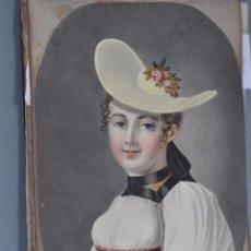 Varios objetos de Arte: BLOC DE 1836 , CON DIBUJOS , POEMAS , ETC . DE PERSONAJES ILUSTRES DE LA ÉPOCA , BRUXELLES. Lote 93368650